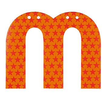 'M' Perfect Pattern Boy Letter