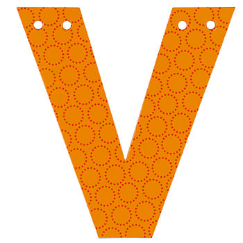 'V' Perfect Pattern Boy Letter