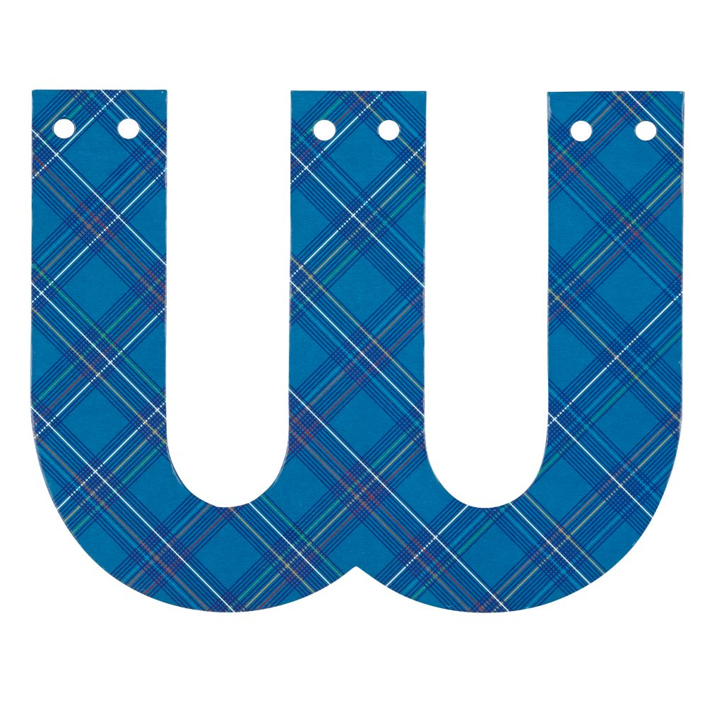 'W' Perfect Pattern Boy Letter