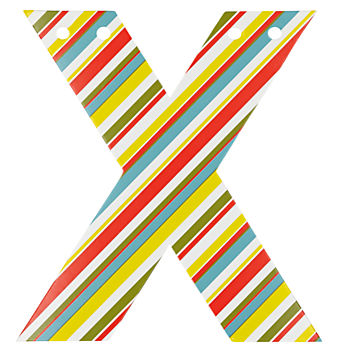 'X' Perfect Pattern Boy Letter
