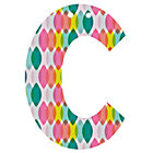 'C' Perfect Pattern Girl Letter