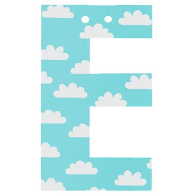 'E' Perfect Pattern Girl Letter