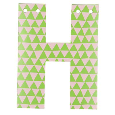 'H' Perfect Pattern Girl Letter