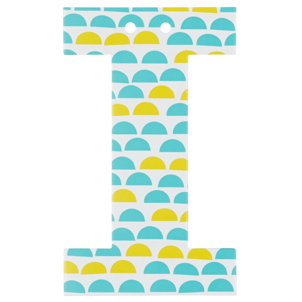 'I' Perfect Pattern Girl Letter