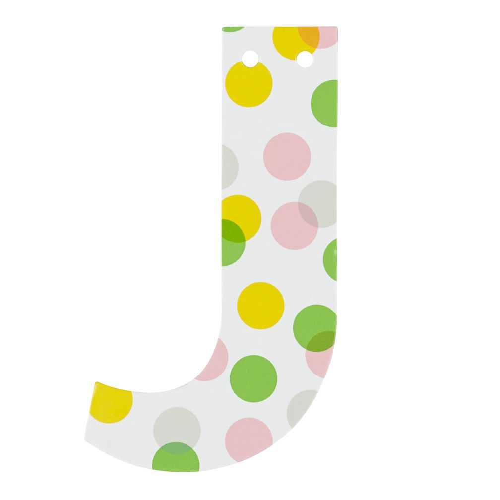 'J' Perfect Pattern Girl Letter