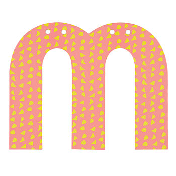 'M' Perfect Pattern Girl Letter