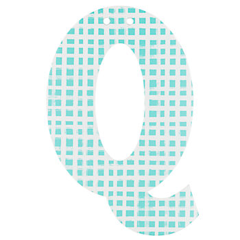 'Q' Perfect Pattern Girl Letter