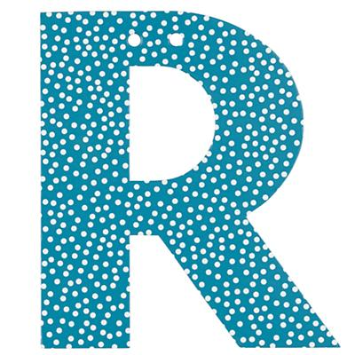 'R' Perfect Pattern Girl Letter