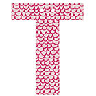 'T' Perfect Pattern Girl Letter