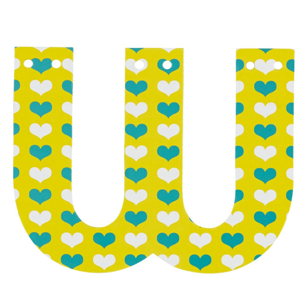 'W' Perfect Pattern Girl Letter