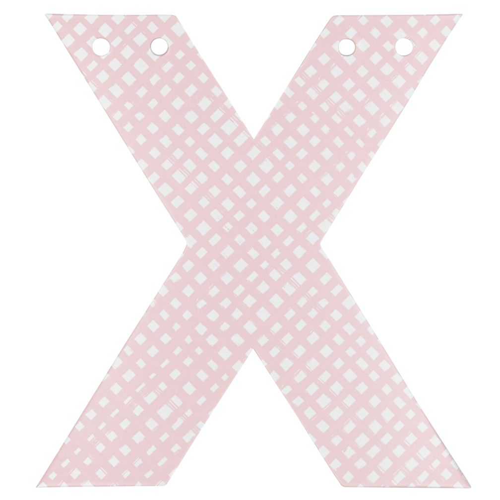 'X' Perfect Pattern Girl Letter