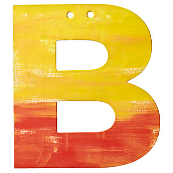 B Watercolor Letter