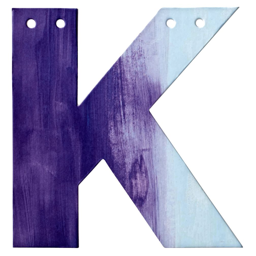 K Watercolor Letter