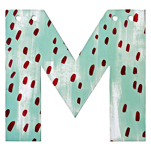 M Watercolor Letter