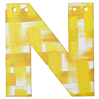 N Watercolor Letter