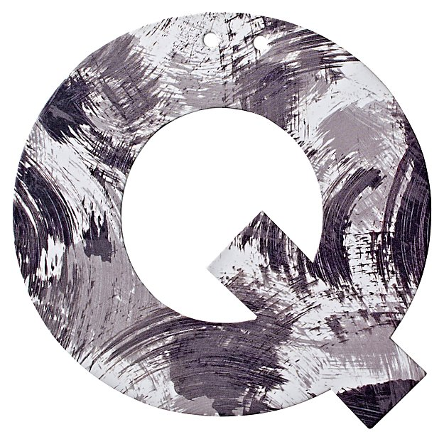 Q Watercolor Letter