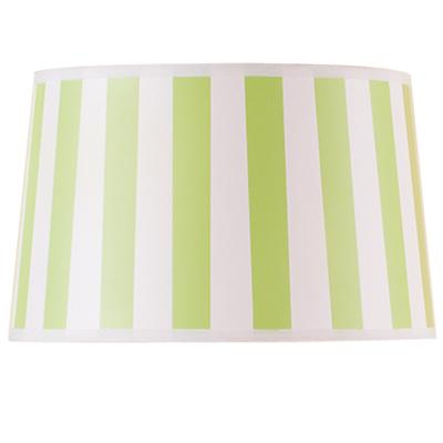 Green Stripe Rounder Floor Shade