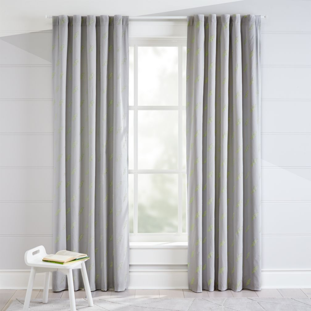 Lightning Bolt Glow In The Dark Blackout Curtains