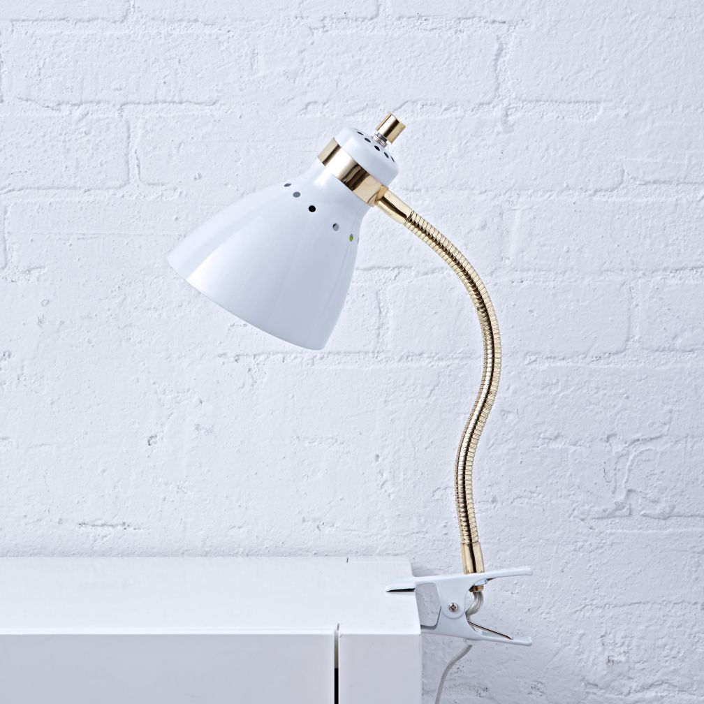 Good Grip White Clip Lamp