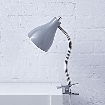 hold on grey clip lamp