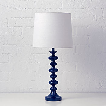 jenny lind dark blue table lamp