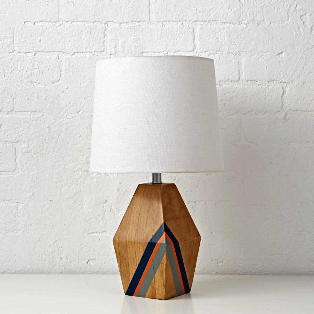 Natural Color Blue Table Lamp
