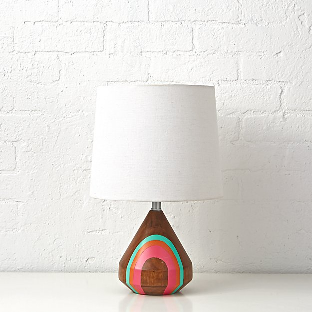 Natural Color Pink Table Lamp