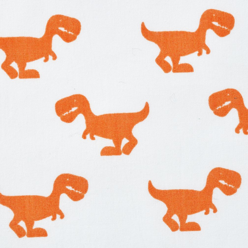 Little Prints Kids Sheet Set Orange Dino The Land Of Nod