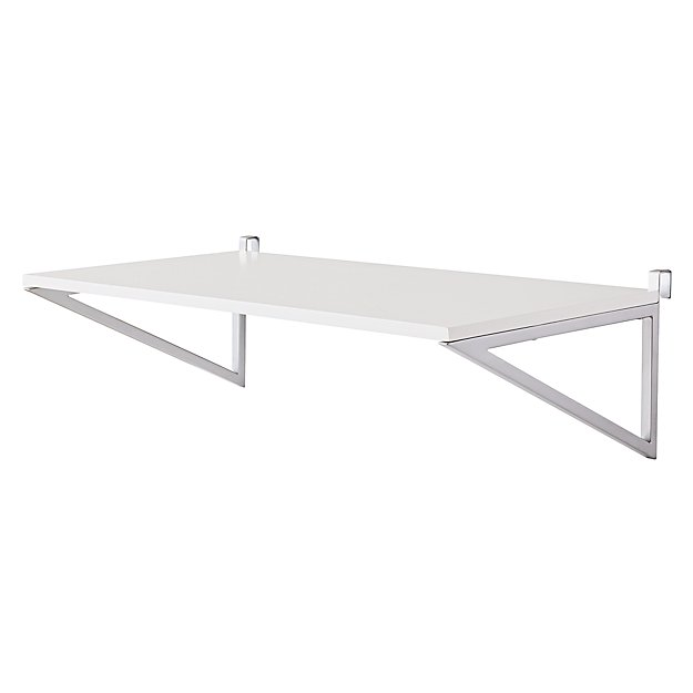 Uptown White Desk Shelf