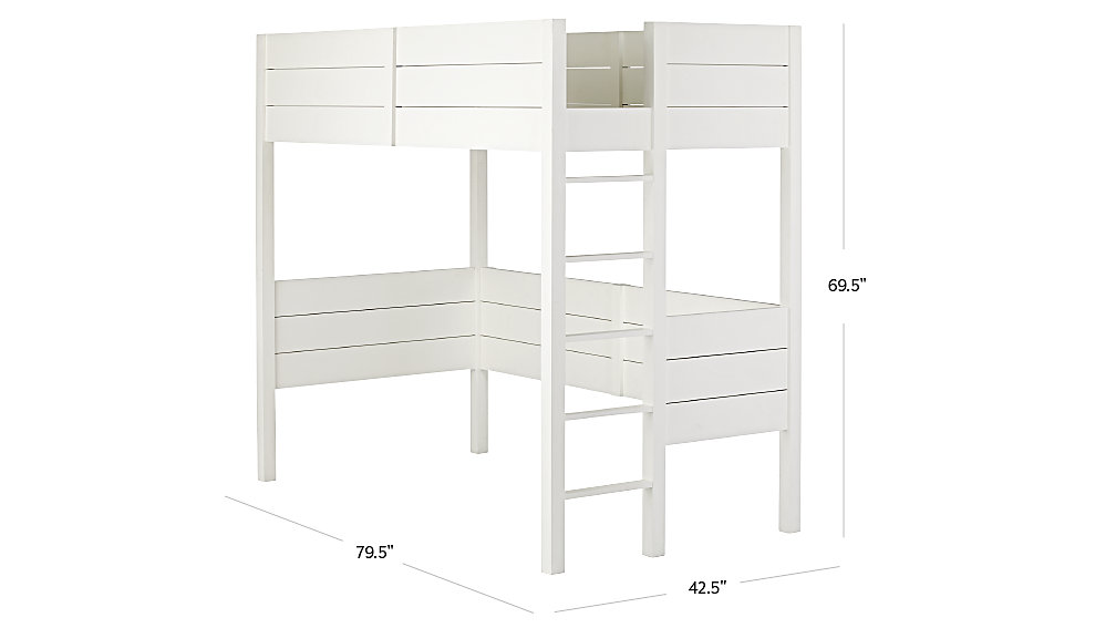 uptown white loft bed dimensions
