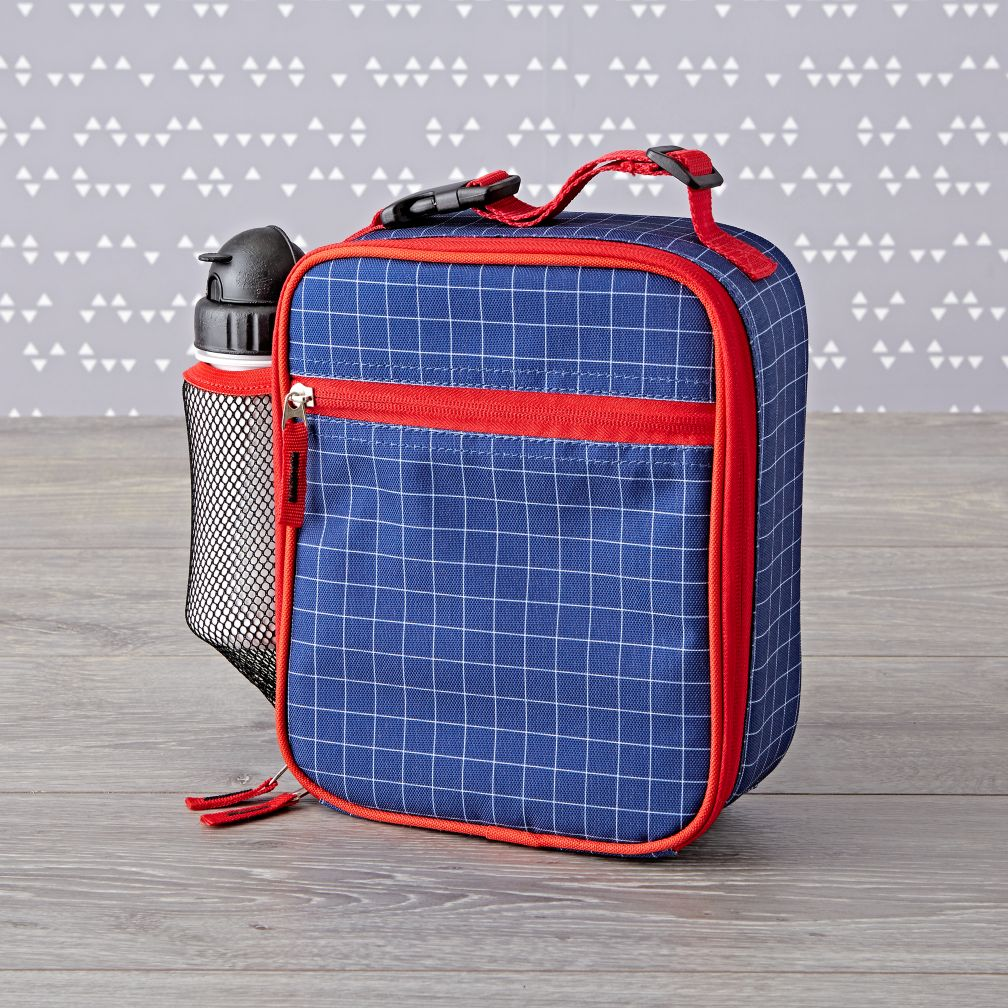 Blue Grid Lunch Box