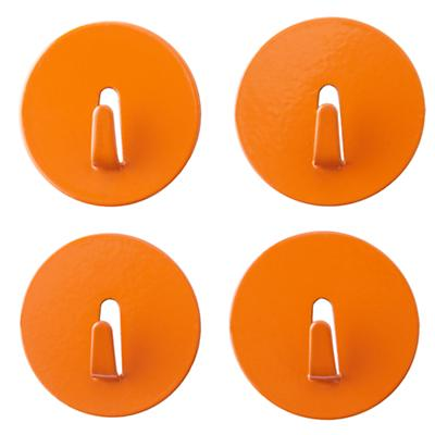 Orange Mini Spot On Magnet Hooks (Set of 4)