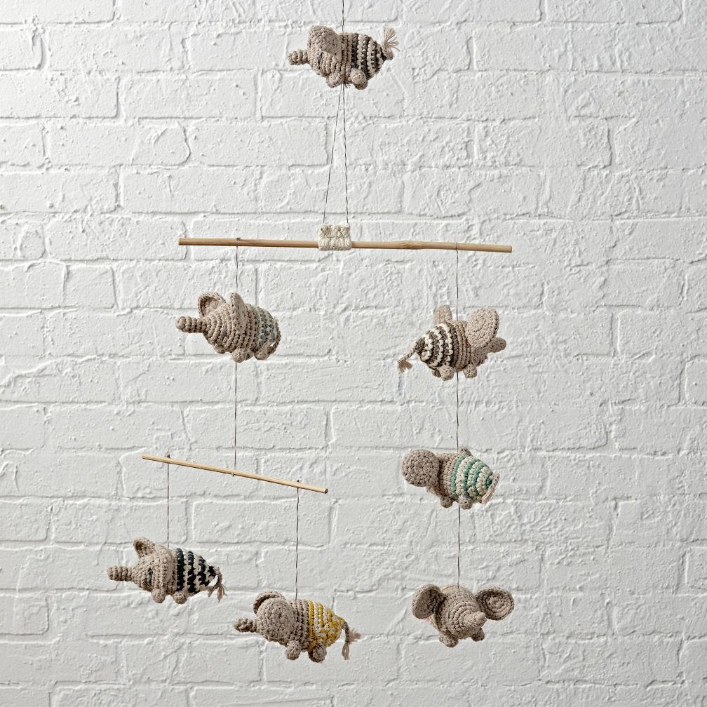 Kids garlands mobiles the land of nod flying elephants mobile amipublicfo Gallery