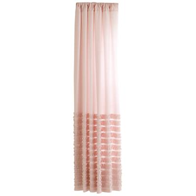 "84"" Pink Multi Ruffle Curtain Panel<br />(Sold Individually)"