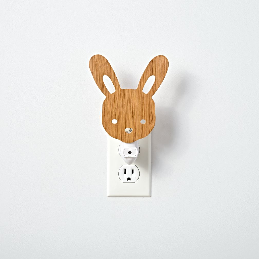 Wooden Bunny Night Light