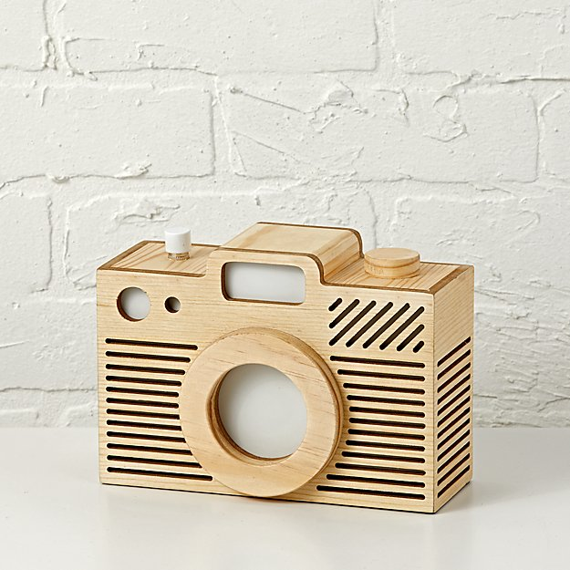 Wooden Camera Night Light