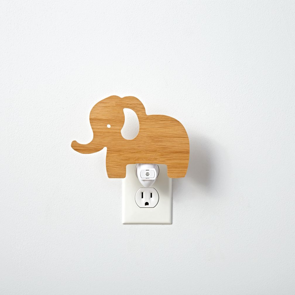 Wooden Elephant Night Light