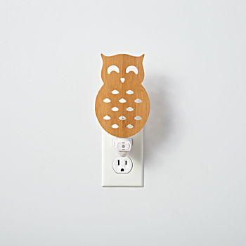 Wooden Owl Night Light