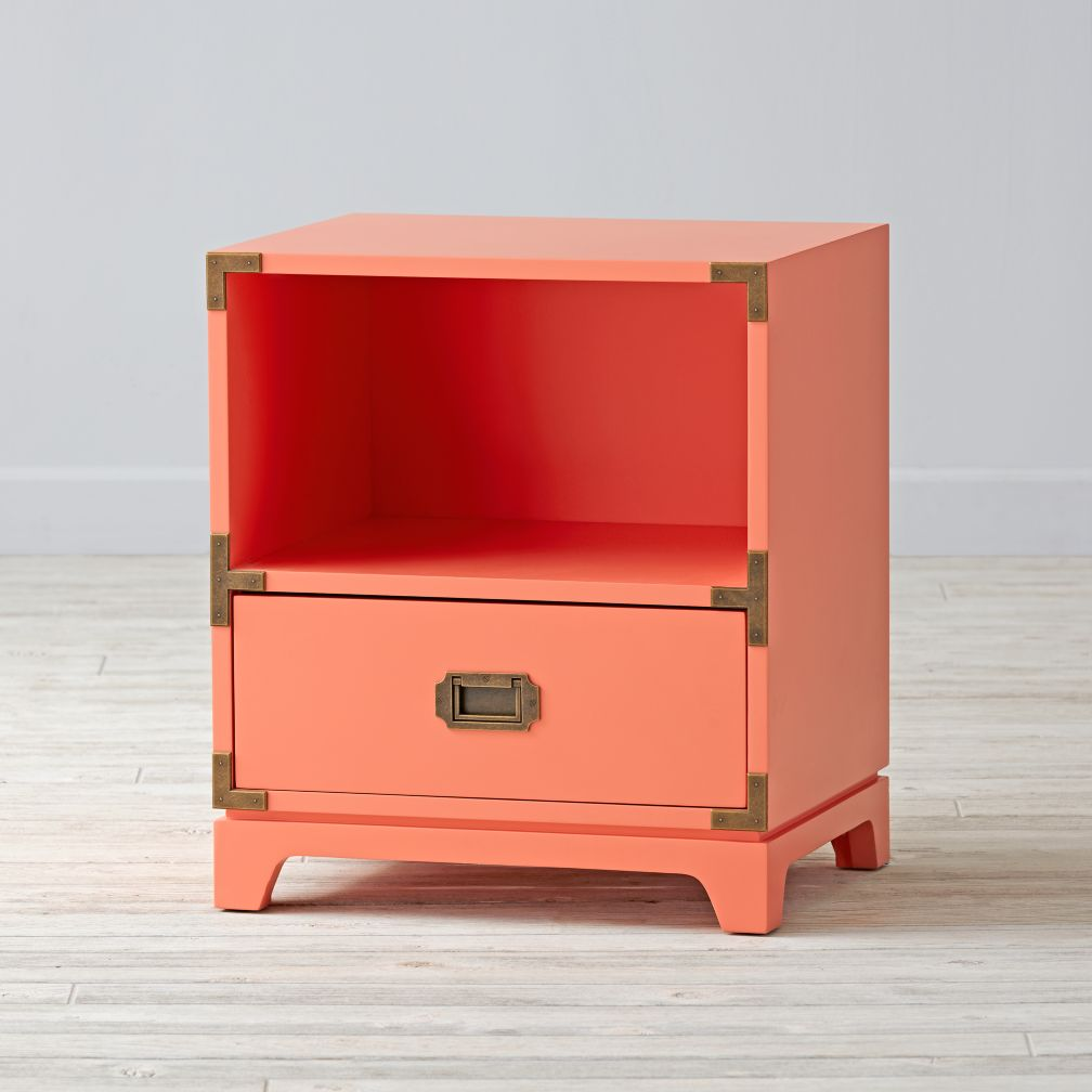 campaign nightstand (coral)  the land of nod -
