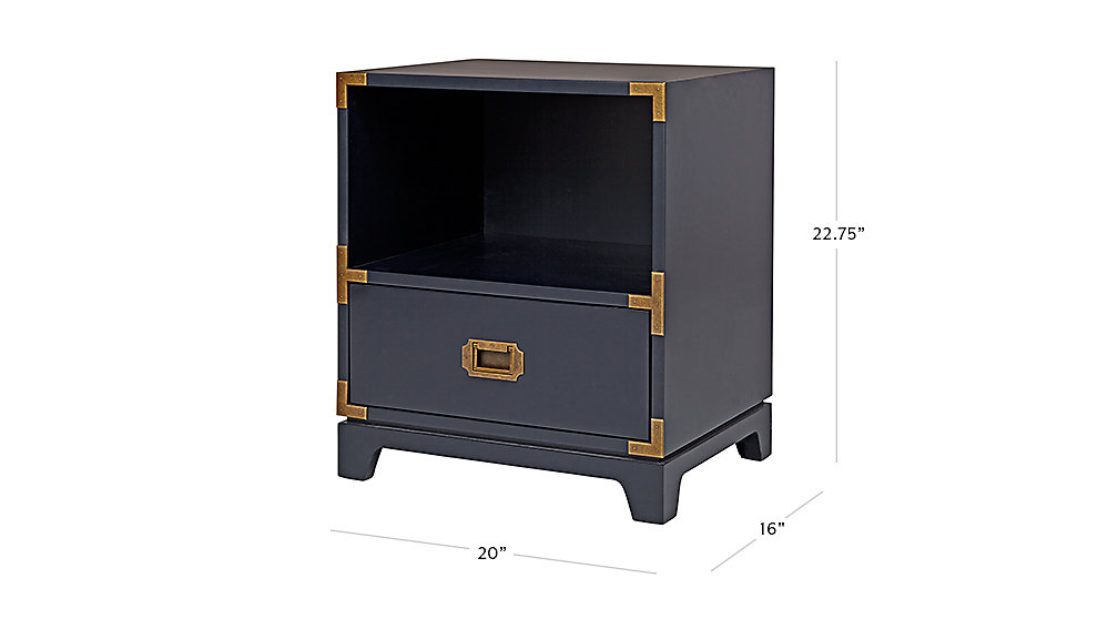 Campaign Nightstand Midnight Blue The Land Of Nod