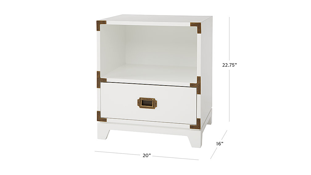 Campaign Nightstand White The Land Of Nod