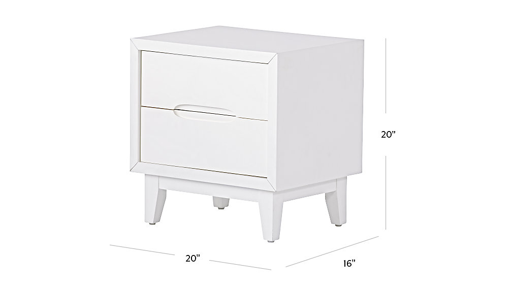 Ellipse White Nightstand The Land Of Nod