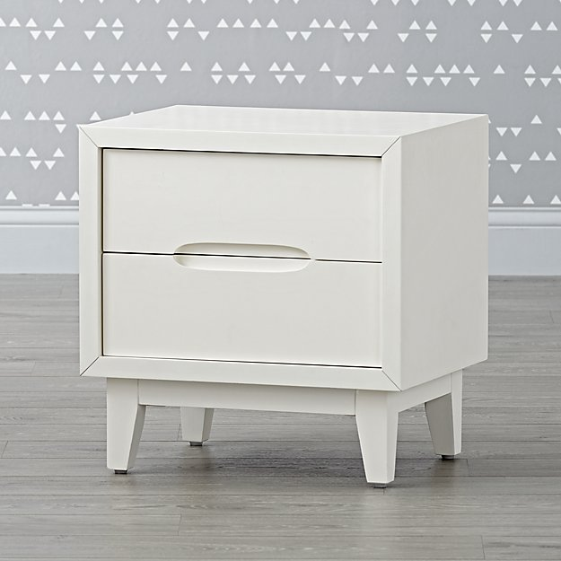 Ellipse White Nightstand
