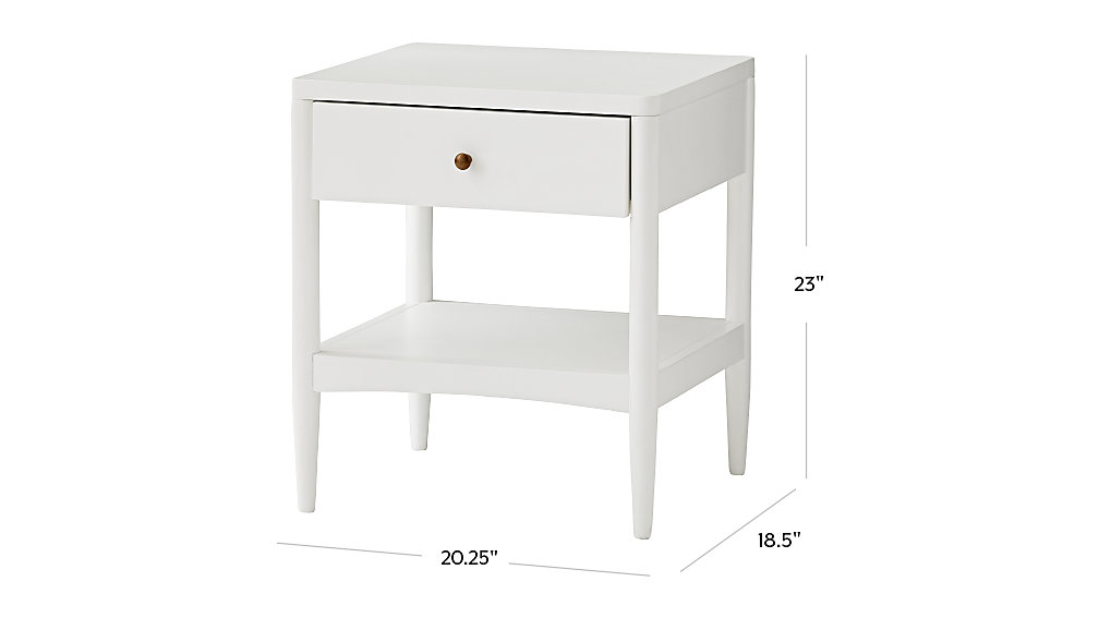 Hampshire White Nightstand The Land Of Nod