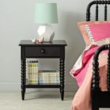 Jenny Lind Black Nightstand