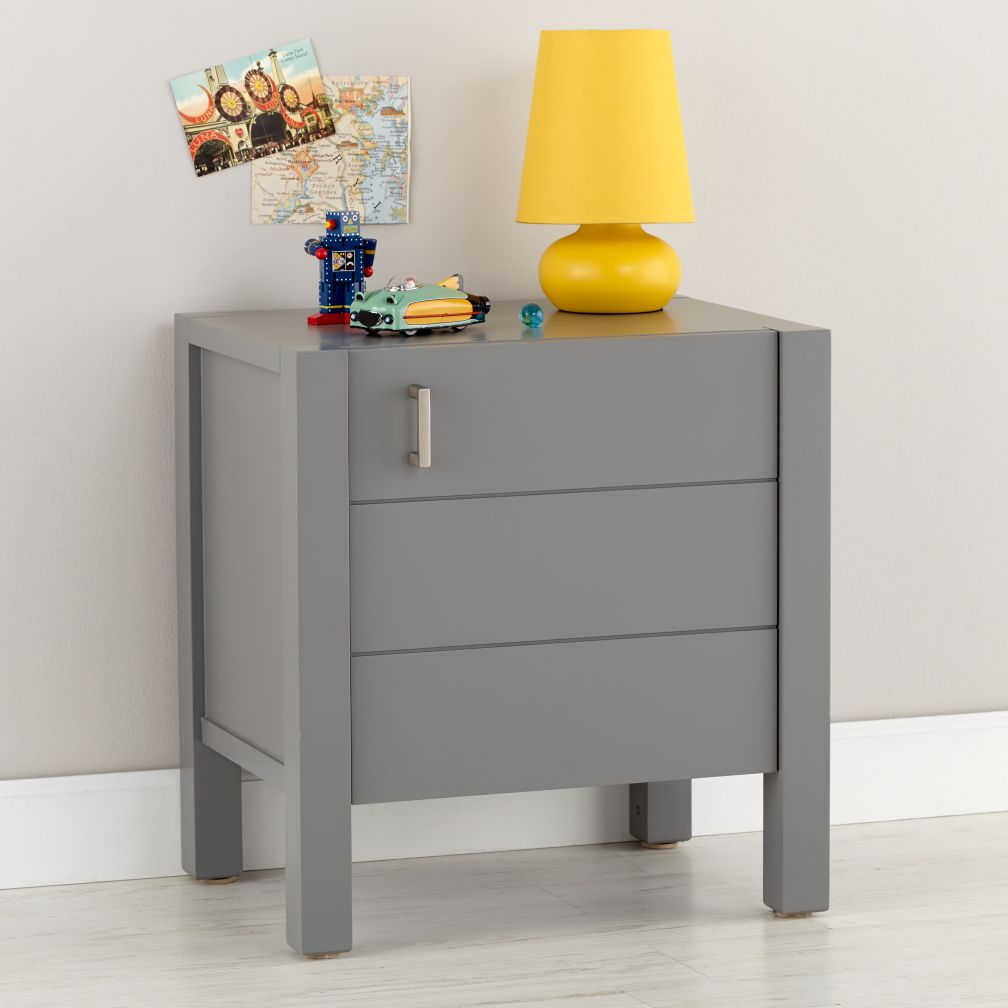 kids night stand devon nightstand devon nightstand kids night  - uptown nightstand (grey) the land of nod