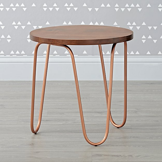 Copper Metal Nightstand