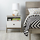 Wrightwood Grey Stain and White Nightstand