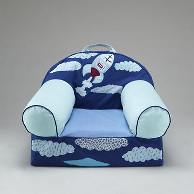 Blue Rocket Ship Nod Chair