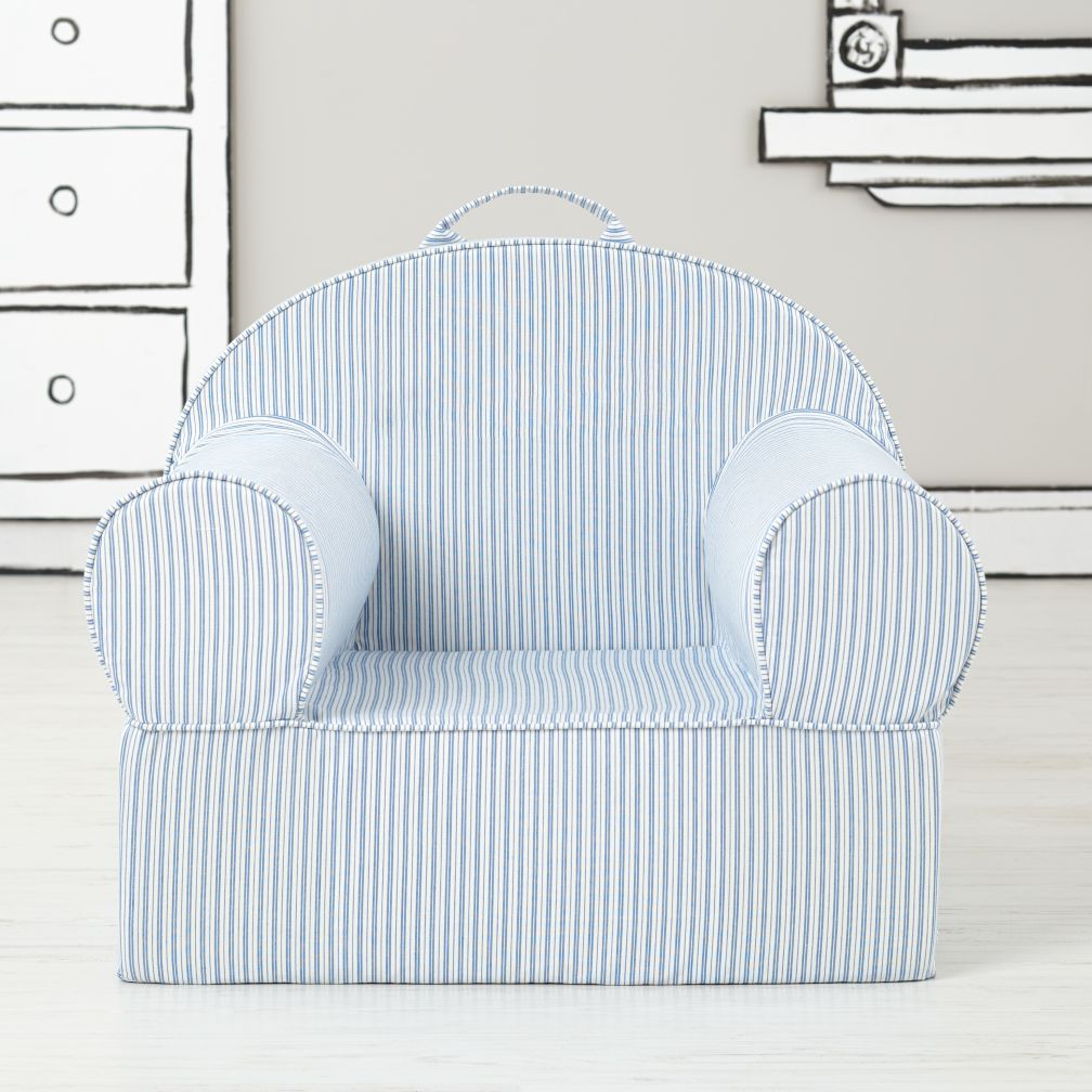 Large Blue Ticking Stripe Nod Chair Cover
